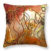 Soul Jazz 2 Throw Pillow