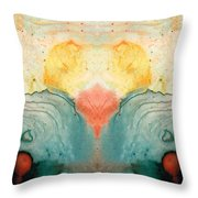 Soul Star - Abstract Art By Sharon Cummings Throw Pillow