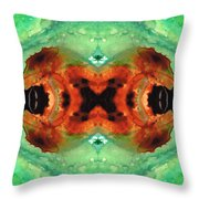 Soul Symphony - Abstract Art By Sharon Cummings Throw Pillow