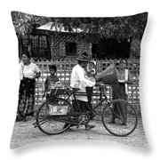 Sound Bike In Burma Throw Pillow