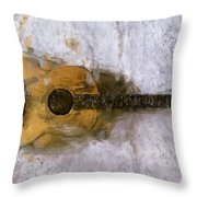 Sound Of Canvas II Throw Pillow