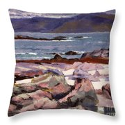 Sound Of Iona  The Burg From The North Shore Throw Pillow