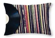 Sound Of Vinyl Throw Pillow