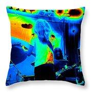 Soundcheck #11 Enhanced Cosmicolors 1 Crop 2 Throw Pillow