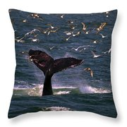 Sounding Humpback Throw Pillow