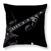 Sounds In The Night Bass Man Throw Pillow by Bob Orsillo