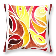 Sounds Of Color Doodle 2 Throw Pillow