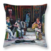 Sounds Of Paris Throw Pillow