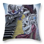 Sounds Of The 70s Throw Pillow by Carla Carson