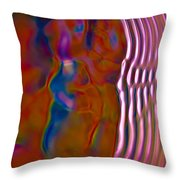 Soundwaves Throw Pillow