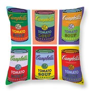 Soup Cans Throw Pillow