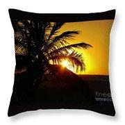 Sour Sunset Throw Pillow