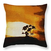 South African Sky Throw Pillow