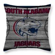 South Alabama Jaguars Throw Pillow