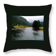 South America - Chile River Throw Pillow