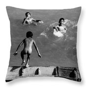 South American Rivers Throw Pillow