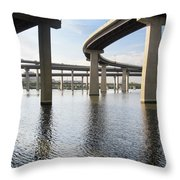South Baltimore Bypass Throw Pillow