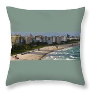 South Beach Afternoon Throw Pillow