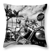 South Beach Cruiser Throw Pillow