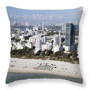 South Beach Florida Throw Pillow