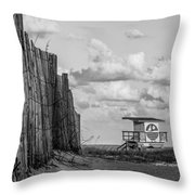 South Beach Lifeguard Shack Throw Pillow