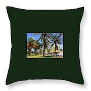 South Beach Miami Beach Throw Pillow