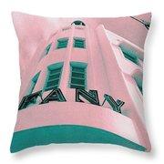 South Beach Miami Tiffany Hotel Tropical Art Deco Throw Pillow