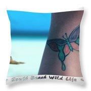 South Beach Wild Life Throw Pillow by Mike McGlothlen