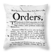 South Carolina, 1780 Throw Pillow