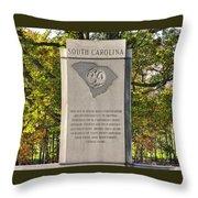 South Carolina At Gettysburg - Close 1 Throw Pillow