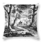 South Carolina Battlefield Throw Pillow