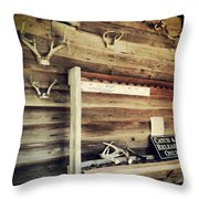 South Carolina Hunting Cabin Throw Pillow