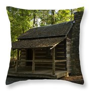 South Carolina Log Cabin Throw Pillow