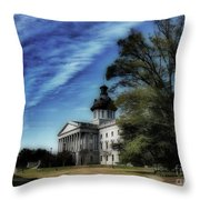South Carolina State House Throw Pillow