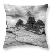 South Coyote Buttes Monochrome 1 Throw Pillow