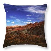 South Dakota Badlands Beautiful Afternoon Throw Pillow