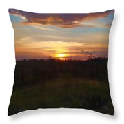 South Dakota Sunset 2 Throw Pillow