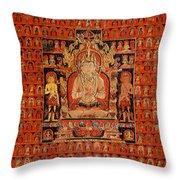 South East Asian Art Throw Pillow