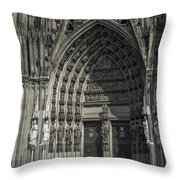 South Entrance Cologne Cathedral Throw Pillow