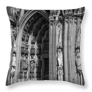 South Entrance Detail Cologne Cathedral Throw Pillow