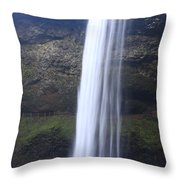 South Falls In Winter Time Throw Pillow
