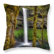 South Falls Silver Falls State Park Throw Pillow