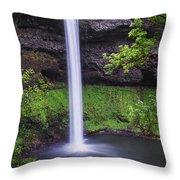 South Falls - Silver Falls State Park - Oregon Throw Pillow