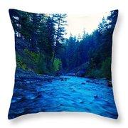 South Fork Of The Tieton  Throw Pillow