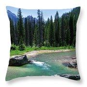 South Fork Payette River Grandjean Throw Pillow
