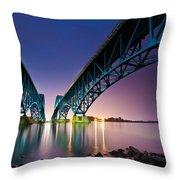 South Grand Island Bridge Throw Pillow