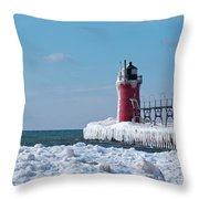 South Haven Ice Throw Pillow