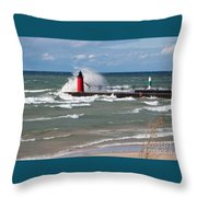 South Haven Splash Throw Pillow