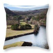 South Holston Dam View Throw Pillow