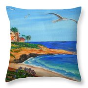 South La Jolla Throw Pillow